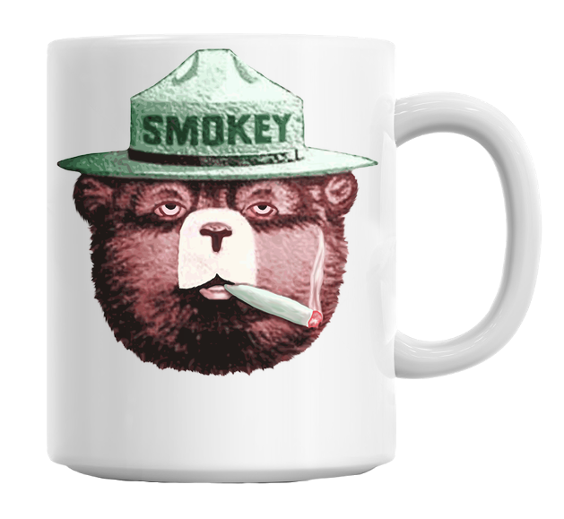 Smokey the Bear with Joint Coffee or Tea Mug