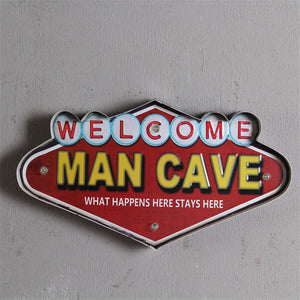 LED Vintage Vegas Welcome Man Cave Metal Neon Sign Decor