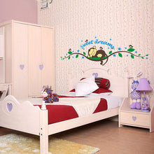 Sleeping Monkey Baby Removable Vinyl Wall Sticker Decal