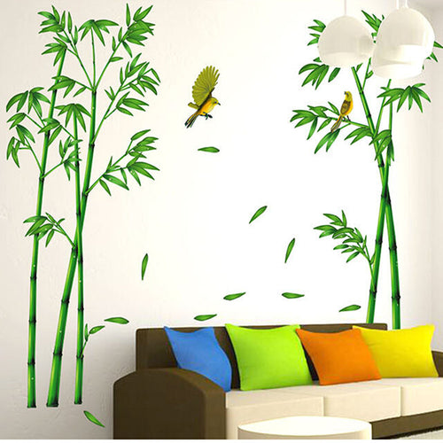 Bamboo Forest Wall Stickers Baby Room Home Decor