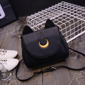 Moon Cat Crossbody Purse
