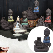 Ceramic Monk Incense Cone Burner Holder Decor