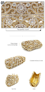 Elegant Gem Stone Evening Party Bag Clutch Purse