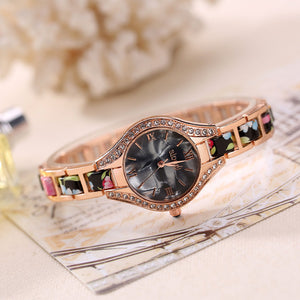 Women Floral Bracelet Watch