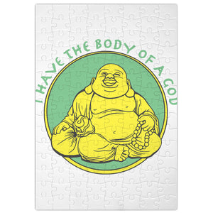 Funny Buddha I Have The Body Of A God Jigsaw Puzzle Wall Art