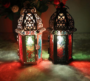 Vintage Moroccan Style Metal Candle Holder Lanterns