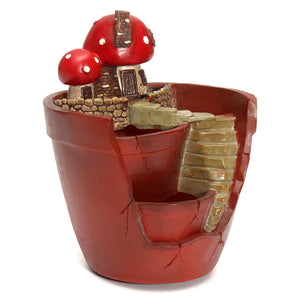 Mushroom House Flower Pot Planter for Herbs, Cacti & Succulents ; Mini Micro Garden