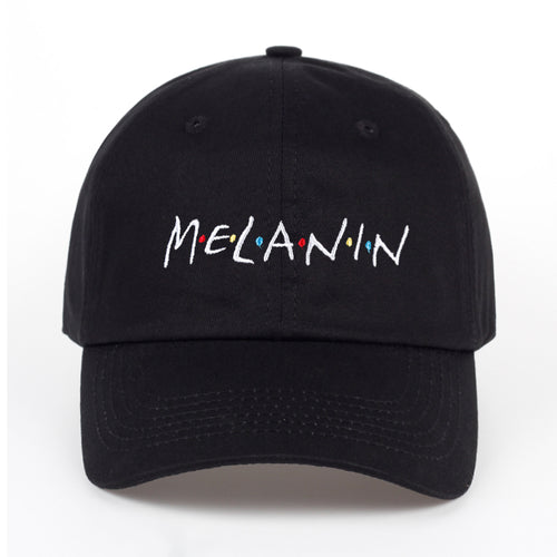 Melanin Embroidered Adjustable Dad Hat Cap