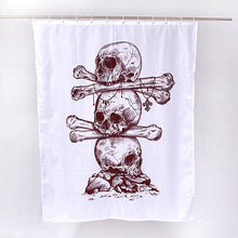 Sugar Skull Bathroom Shower Curtain with 12 Hooks