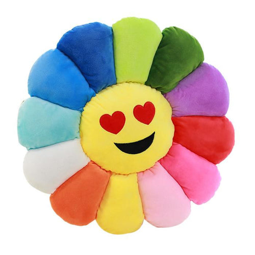 Sunflower Emoji Cushion Pillow Toy