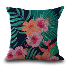 Vintage Tropical Flower Throw Pillow Cushion Case Cover Home Decor