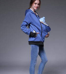 Kangaroo Pouch Baby Carrier Jacket Sweatshirt Hoodie for Moms On The Go