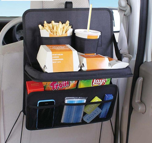 Hanging Seat Back Car Travel Storage Bag Tray Multi-pocket Cup Holder Organizer