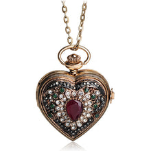 Womens Antique Crystal Vintage Pocket Watch