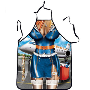 Funny Sexy Cool Women's & Mens Printed BBQ Kitchen Apron