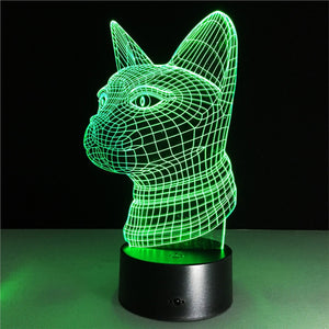 Cat Lamp Color Changing Night Light with Remote Control