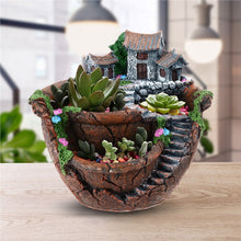 Micro Landscape Planter Pot Creative Flower Succulent Holder Garden Fairy Design with mini House