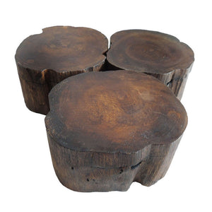 Wood Organic Style Ashtray with Lid
