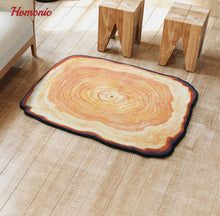 Tree Wood Ring Rug Carpet