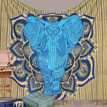 Indian Boho Elephant Mandala Tapestry Dorm or Bedroom Decor