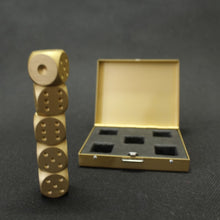 Reusable Metal Dice Ice Stones With Case 5pcs