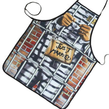 Just Married Prison Printed Groom Cooking Kitchen Apron Grilling BBQ