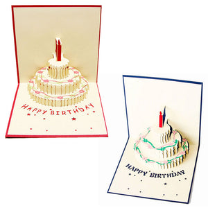 3D Pop Up Birthday Cake Card