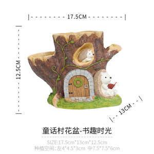 Fairy Tale Village Succulent Pot Planter