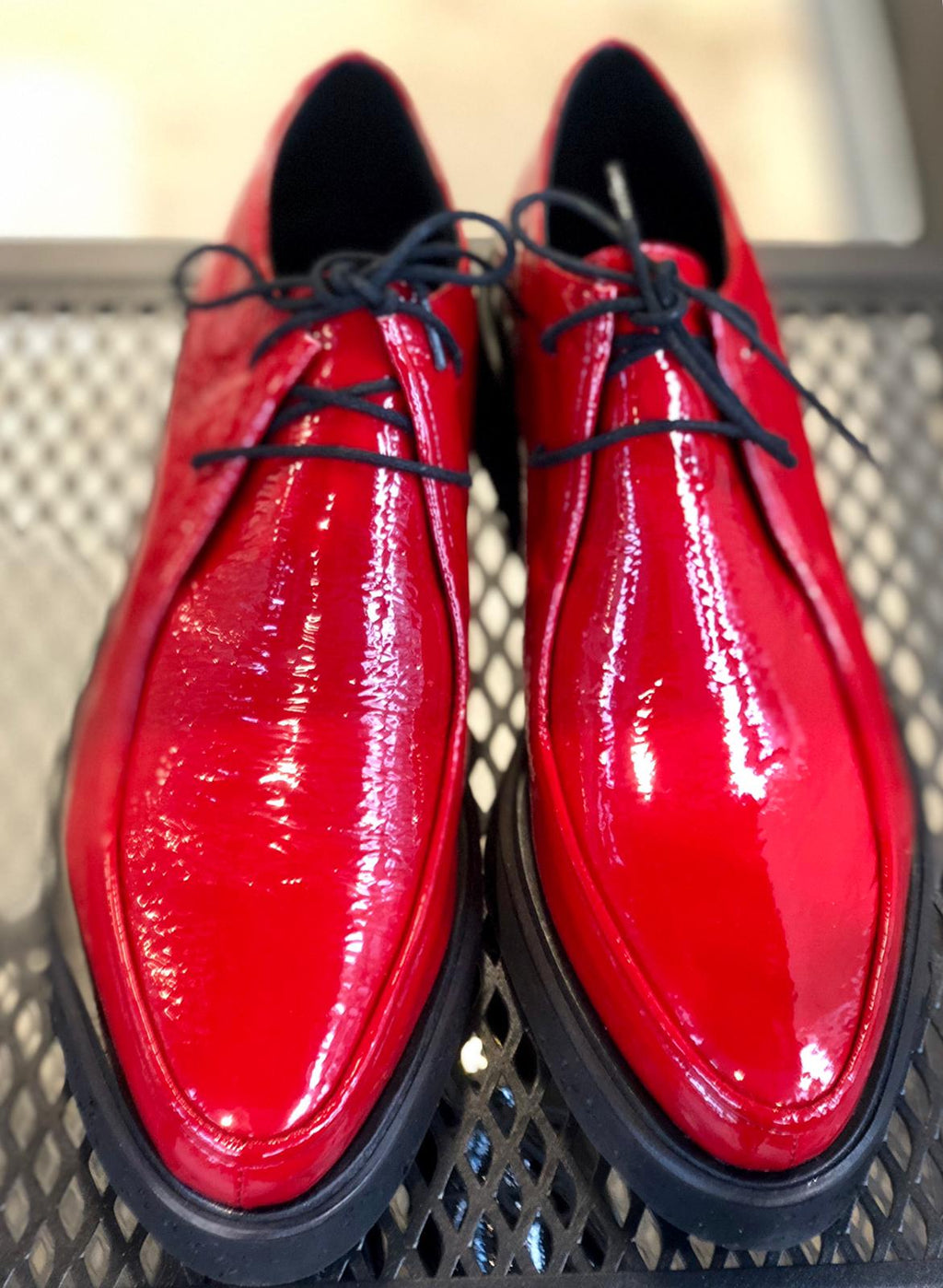 Orly Red  Loafers