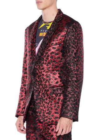 'NIGHT LEOPARD' SUIT JACKET - Web Exclusives - Libertine