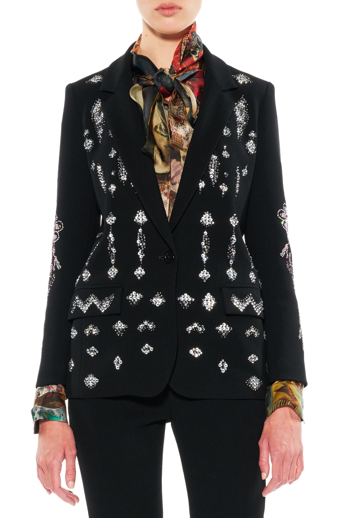 """ZIG ZAGS AND DIAMONDS"" LONG BLAZER - Women's Jackets & Coats - Libertine"