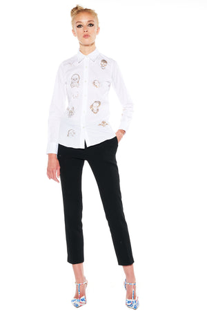 """BE TRUE TO YOUR SKULL"" CLASSIC SHIRT - Women's Tops - Libertine"