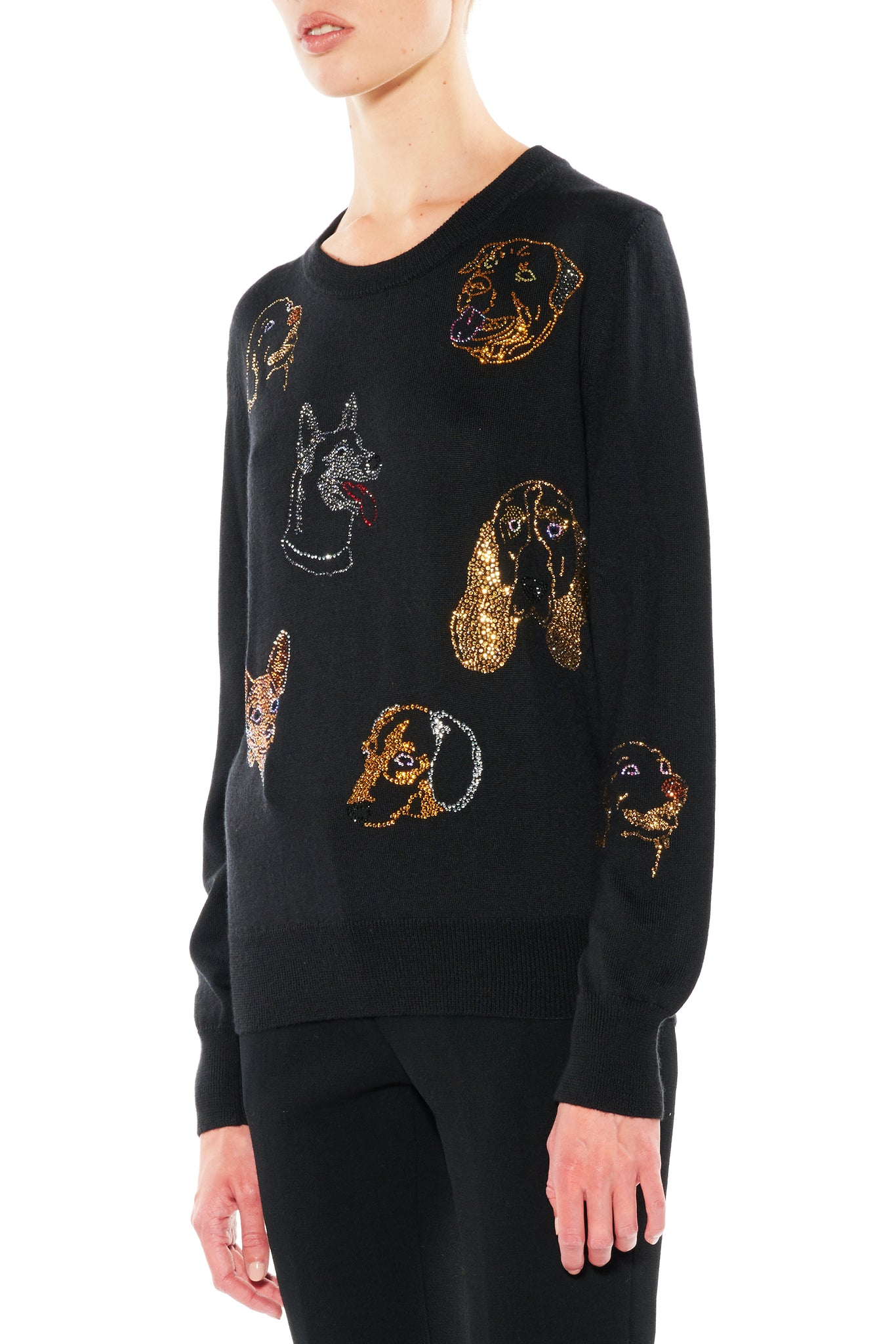 """WHO LET THE DOGS OUT"" CREWNECK PULLOVER - Women's Knits - Libertine"