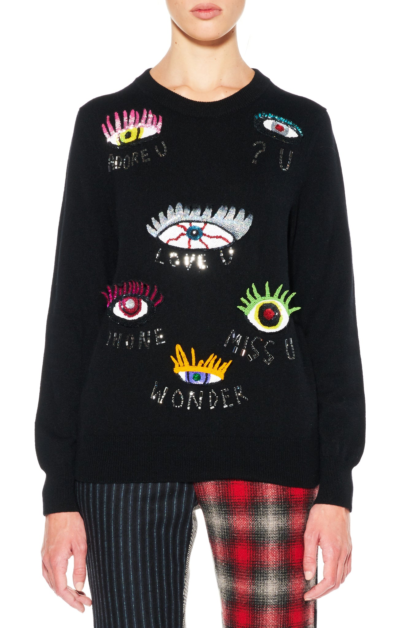 COLORFUL EYES CASHMERE PULLOVER - Women's Knits - Libertine