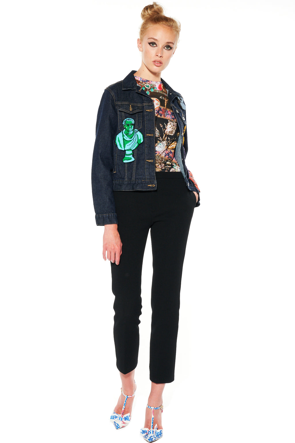 COLORFUL BUSTS DENIM JACKET - Women's Jackets & Coats - Libertine