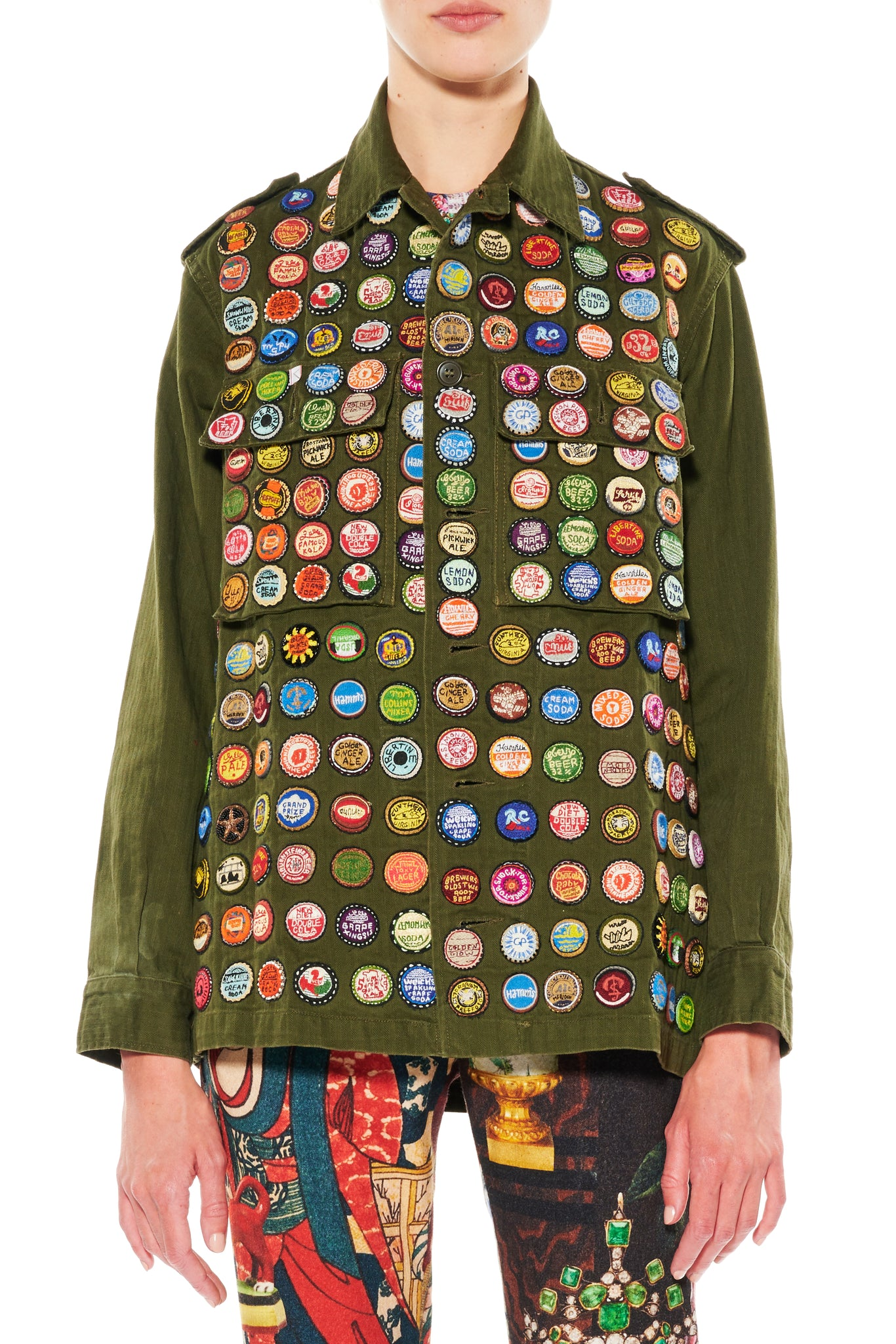 ''BOTTLE CAPS'' VINTAGE FRENCH MILITARY JACKET - Women's Jackets & Coats - Libertine