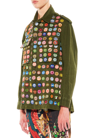 """BOTTLE CAPS"" ARMY JACKET - Women's Jackets & Coats - Libertine"