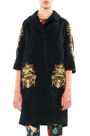 GOLD BOULLION PATCH POCKET COAT - Women's Jackets & Coats - Libertine