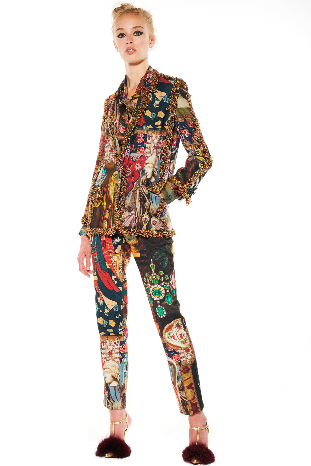 """MEMENTO MORI"" LONG BEADED SEAMS BLAZER - Women's Jackets & Coats - Libertine"