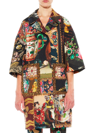 'MEMENTO MORI' BEADED PATCH POCKET COAT - Web Exclusives - Libertine