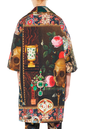 """MEMENTO MORI"" BEADED PATCH POCKET COAT - Women's Jackets & Coats - Libertine"