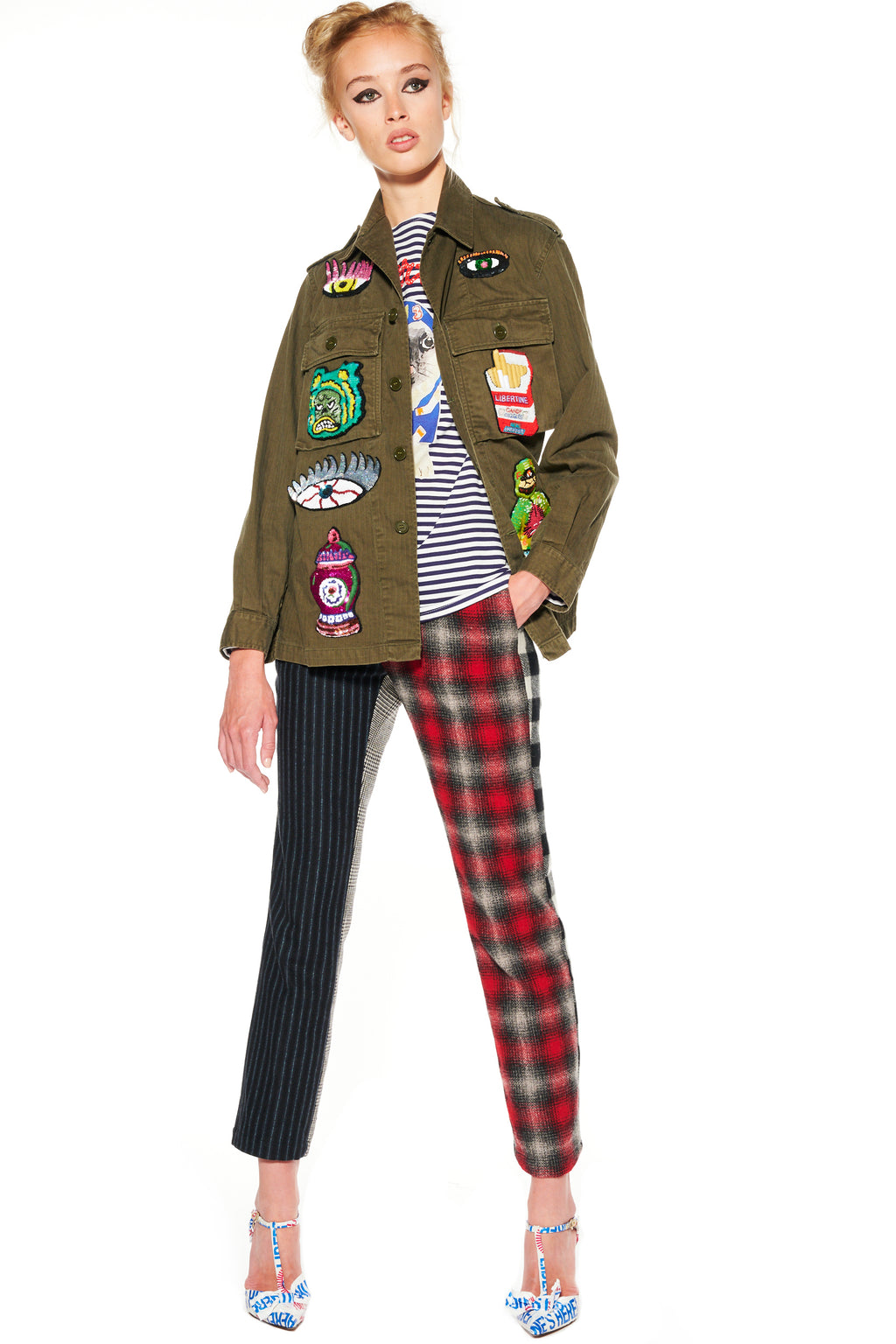 PATCH COLLAGE ARMY JACKET - Women's Jackets & Coats - Libertine