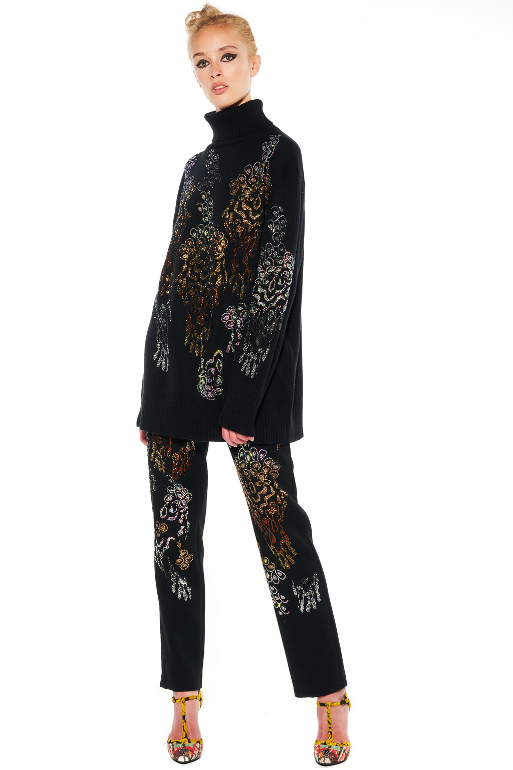 """PICASSO'S FLOWER"" TURTLENECK SWEATER - Women's Knits - Libertine"