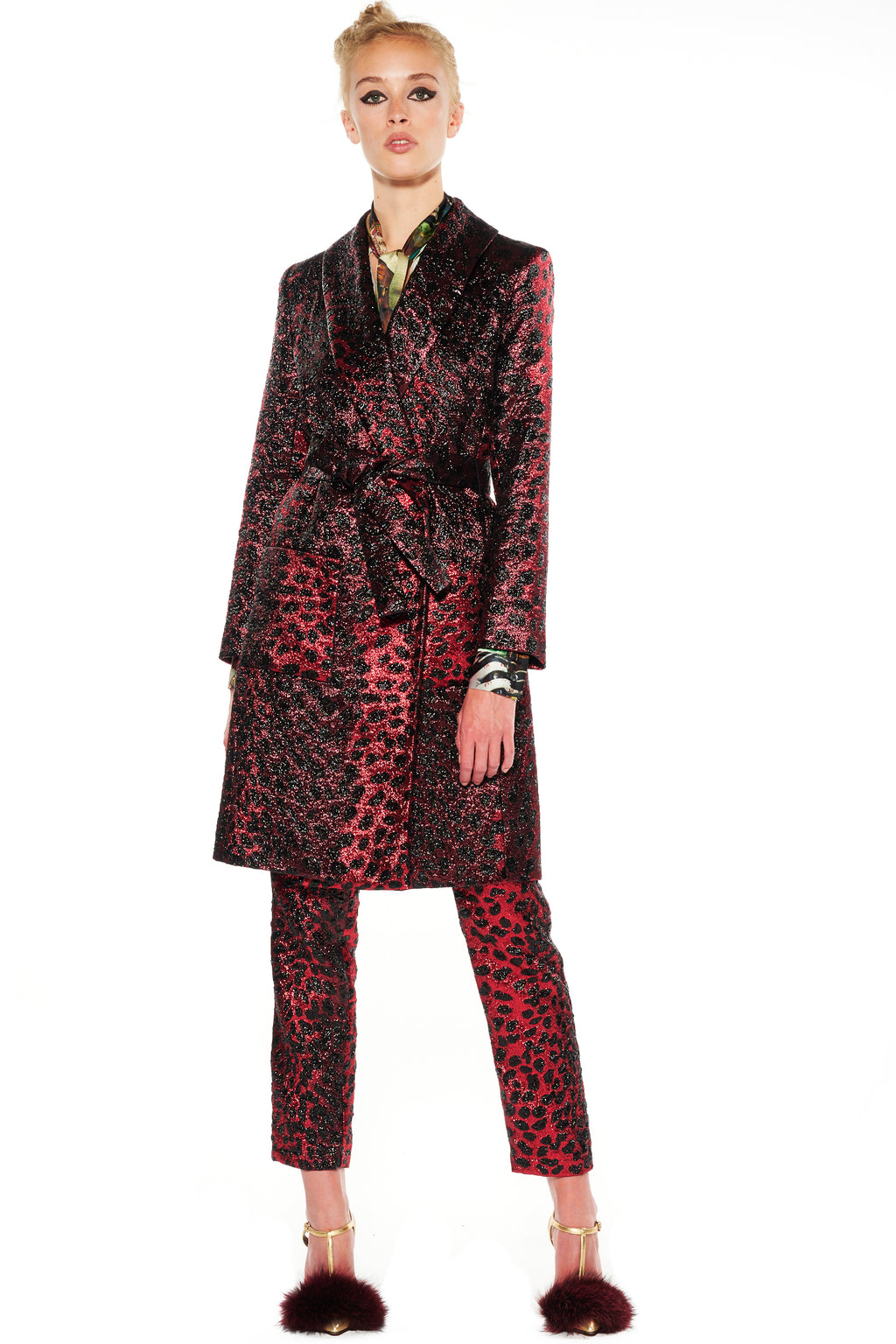'NIGHT LEOPARD' WRAP COAT - Web Exclusives - Libertine