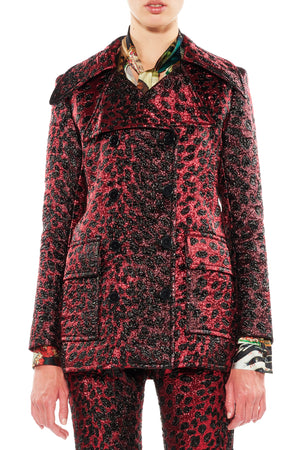 """NIGHT LEOPARD"" PEACOAT - Women's Jackets & Coats - Libertine"