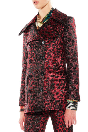 'NIGHT LEOPARD' PEACOAT - Web Exclusives - Libertine