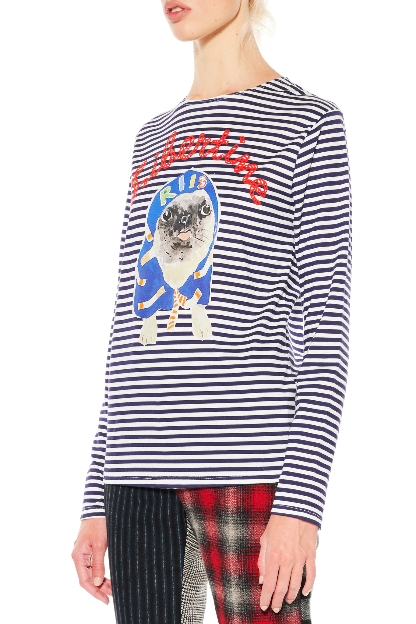 LIBERTINE PUG LONG SLEEVE T-SHIRT - Women's Tops - Libertine
