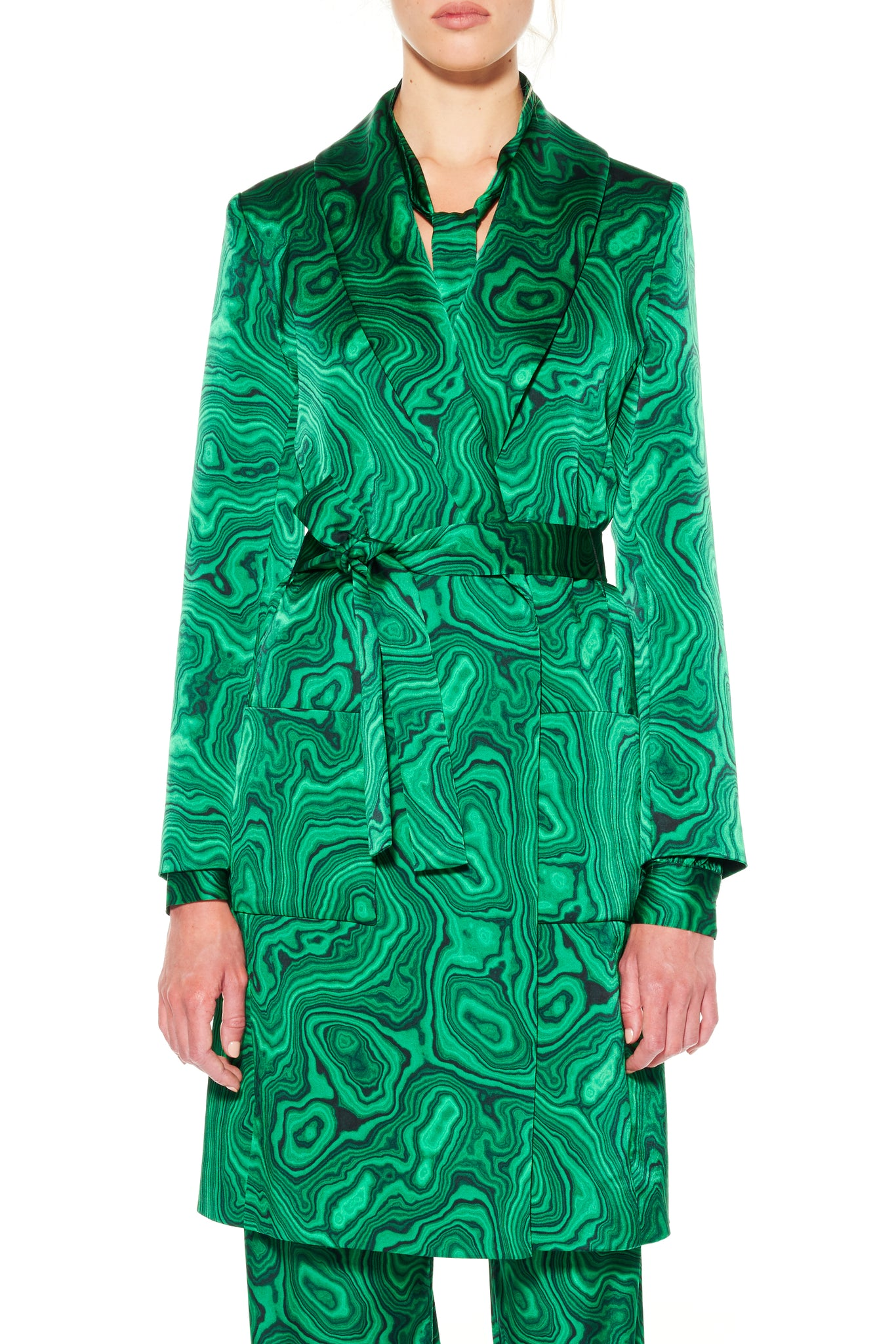 """HIGH AS A MALACHITE"" WRAP COAT - Women's Jackets & Coats - Libertine"