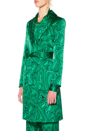 'HIGH AS A MALACHITE' WRAP COAT - Web Exclusives - Libertine
