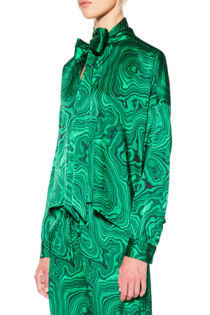 'HIGH AS A MALACHITE' TIE BLOUSE - Women's Tops - Libertine